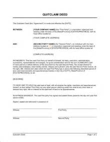 deed template free printable documents