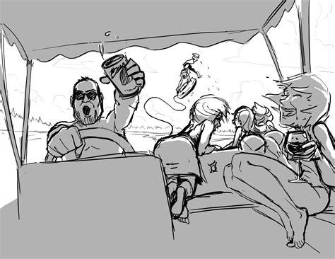 pontoon boat cartoon images summertime tubin madness david knott