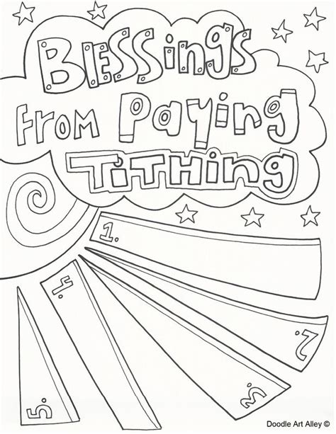 pay lds tithing coloring pages coloring pages