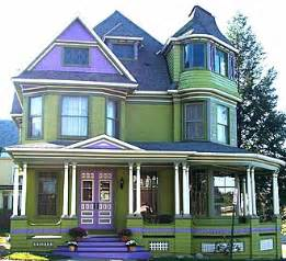 Banister For Sale Victorian Home Accented In Purple For Sale In New York