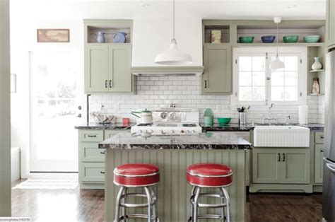 green cabinets cottage kitchen sherwin williams 1000 images about sherwin williams acier on pinterest