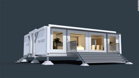 pop up house usa the prefab home that builds itself in minutes cnn