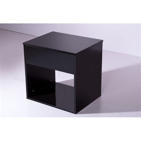 Basic Bedside Table High Gloss Black Basic Bedside Table Temple Webster