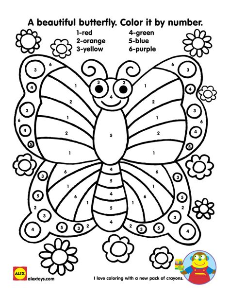 color by number butterfly coloring pages free color by number butterfly coloring pages