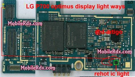 Lg P700 Con Charger Mic lg l7 p700 display light repair solution