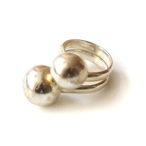 ring balls sterling silver