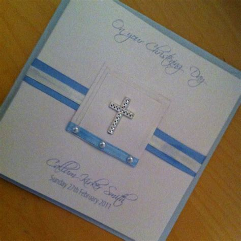 Handmade Baptism Cards - handmade christening card personalised with babies name