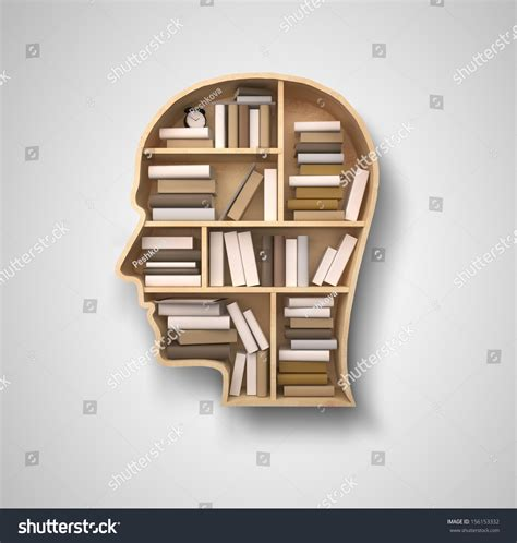 book shelf in form of on gray backgrounds stock photo