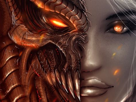 imagenes satanicas wallpapers arts faces diablo 3 girl angel demon eyes wallpaper