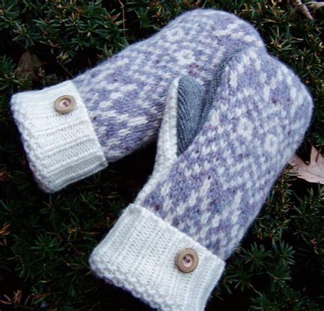 pattern felted wool mittens from sweaters mittens from old sweaters