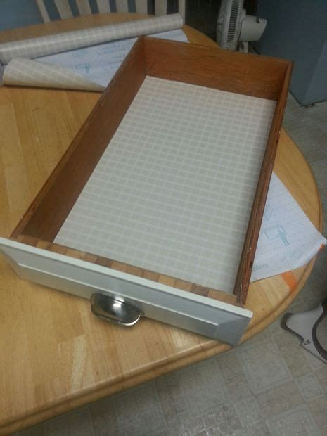 How To Apply Shelf Liner by How To Apply A Drawer Liner