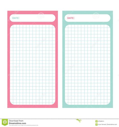 planner pads template paper note list pad planner set cell texture to do list