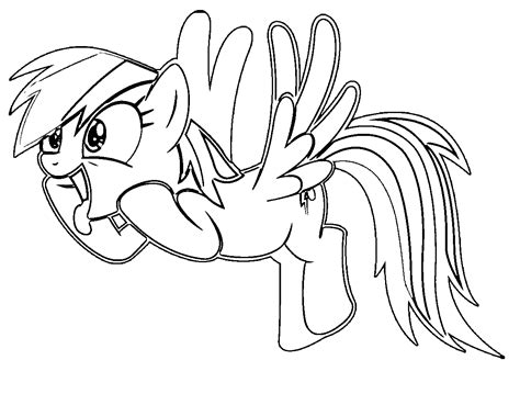 Cartoon My Little Pony Rainbow Dash Coloring Pages My Pony Rainbow Dash Coloring Pages
