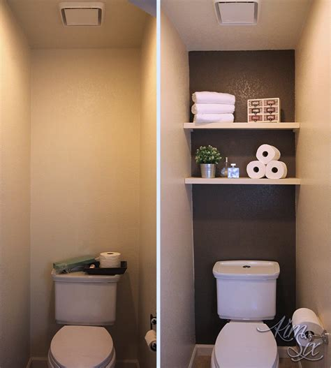water closet with accent wall before and after jpg