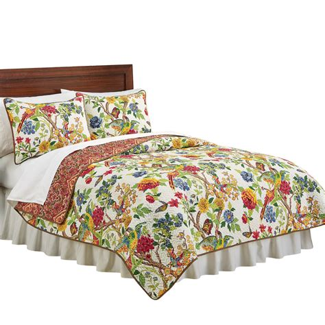 Floral Quilts And Coverlets by Kew Gardens Reversible Floral Quilt By Collections Etc Ebay