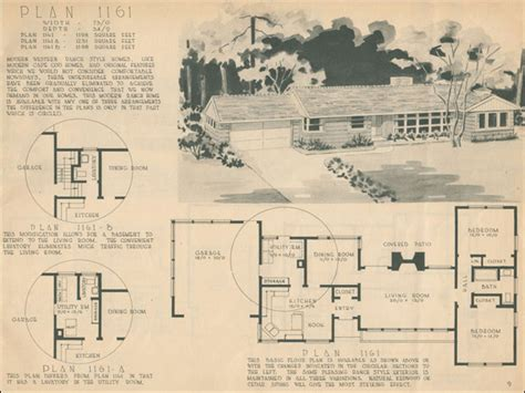 1950s ranch house floor plans 1960 ranch style homes 1950 ranch style house plans for