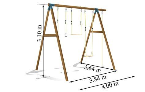 Dimension Balancoire by Portique En Bois D 232 S 14 Ans Balan 231 Oire Offerte