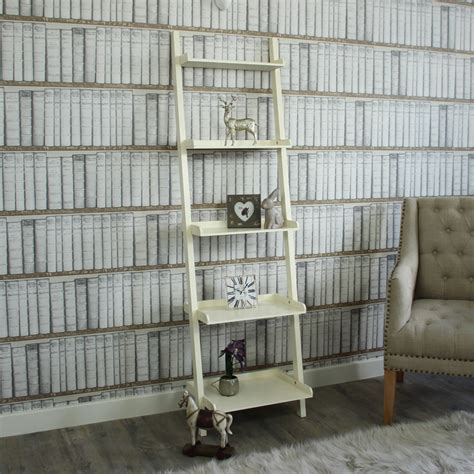 cream wall shelves for bedrooms antique cream ladder bookcase shelving storage bedroom