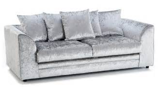 3 Seater Sofa And 1 Chair Crushed Velvet Furniture Sofas Beds Chairs Cushions