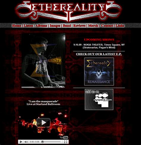Website Design For New Jersey Metal Band Metal Band Website Template