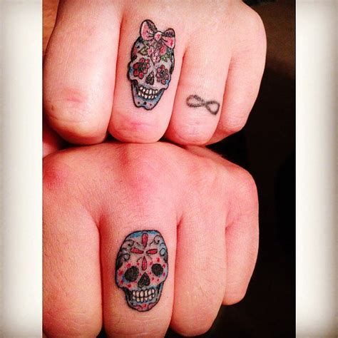 his and hers skulls 33 matching tattoos for couples who