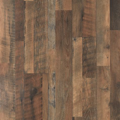 shop pergo max 7 48 in w x 3 93 ft l river road oak embossed wood plank laminate flooring at