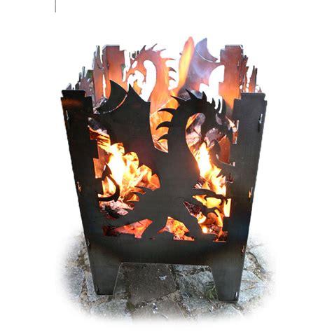 feuerschale flammen feuerkorb svenskav 171 drache 187 stahl terrassenfeuer