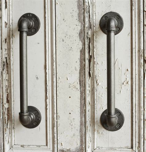 industrial steel pipe door handles by brush64