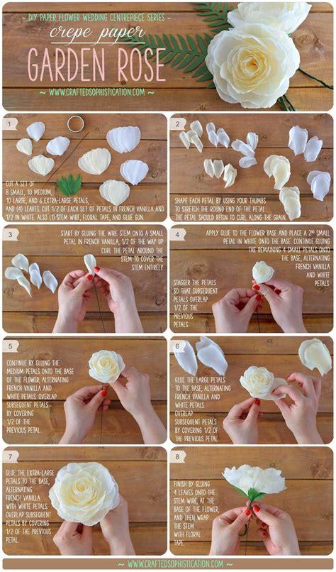 gardenia paper flower tutorial diy crepe paper garden rose flores de papel papel y flores