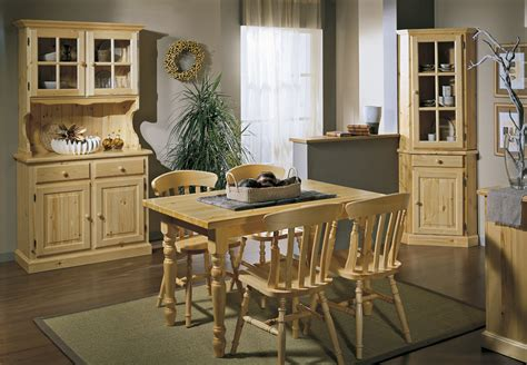 Pine Dining Room by Mobili Pino 187 Solid Pine Dining Room