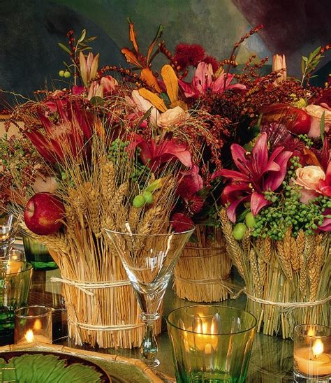 Silk Flower Table Decorations by Triticum Wheat Natural 34 Inch