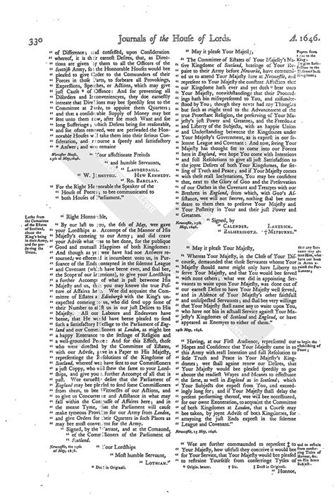mla letter format house of journal volume 8 25 may 1646 1767