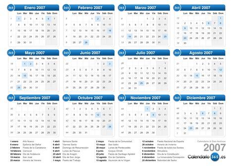 Calendario Octubre 2007 Calendario 2007