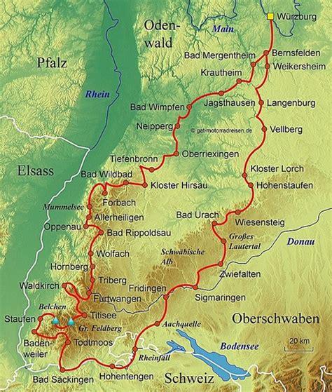 Motorrad Regionen Deutschland by Motorradtouren Schwarzwald Karte Hanzeontwerpfabriek