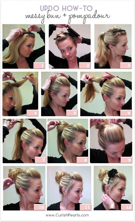 hair donuts instructions hair tutorial messy bun with pompadour she christina