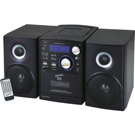 supersonic portable bluetooth mp3 cd micro stereo system