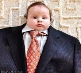 Baby Suit Baby Suiting Photo Trend Puts Tiny Tots In Clothes