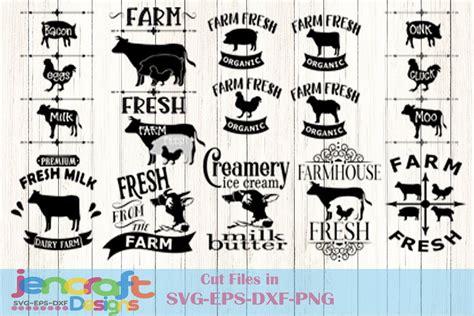 svg farm sign design farmhouse labels kitchen svg