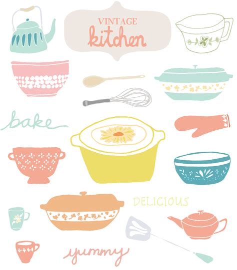 Old Country Kitchen Designs by This Vintage Kitchen Clip Art Is The Cutest