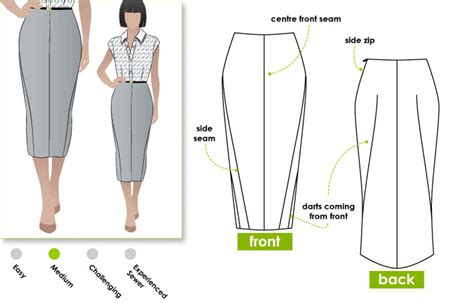 pattern drafting pencil skirt zoe pencil skirt style arc