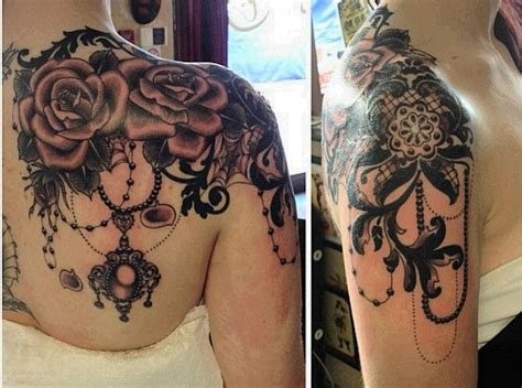 25 best ideas about lace shoulder tattoo on pinterest