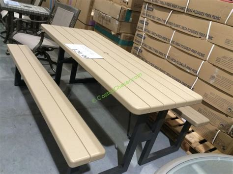 lifetime 8 picnic table lifetime products folding picnic table costcochaser