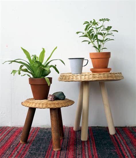 sgabelli fai da te tavolini in vimini fai da te riciclo creativo