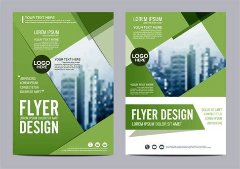 book cover design vector free download green styles book and brochure cover vector 08 vector