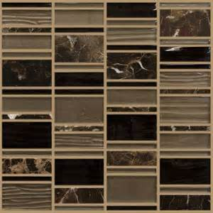 parallel bronze linear stacked mosaic tile with black and