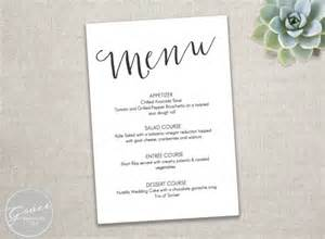 menu template free printable printable black menu template slant calligraphy style
