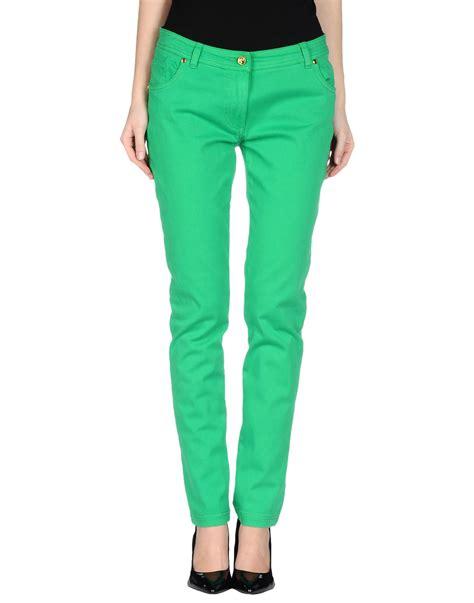 Casual Greenlight class roberto cavalli casual trouser in green light green