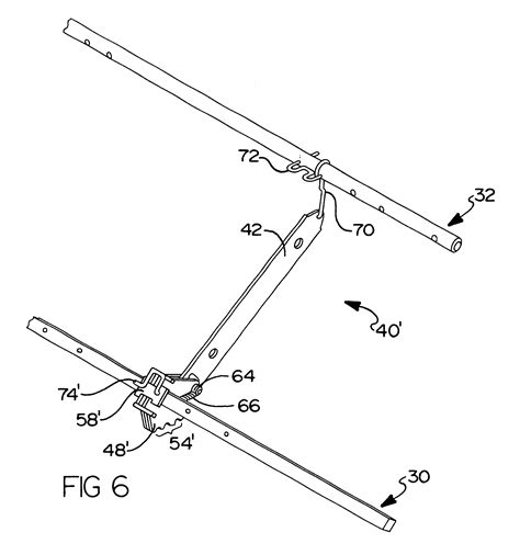 patent us6655732 position leg rest mechanism