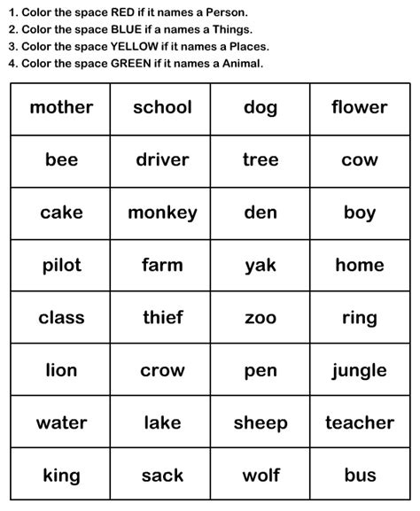 printable games english language learners naming words worksheet9 esl efl worksheets