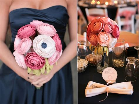 How To Make Paper Bouquets For Weddings - diy wedding flowers paper ranunculu bridal